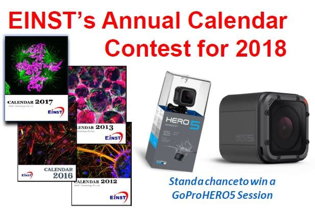 EINST's Annual Calendar Contest 2018 – Stand a chance to win GoPro HERO5 Session