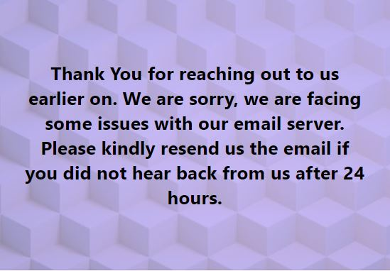 We are SORRY!